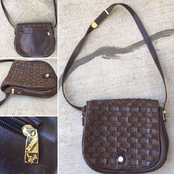 Vintage Silvano Biagini Purse Made In Italy Brown Leather Ebay