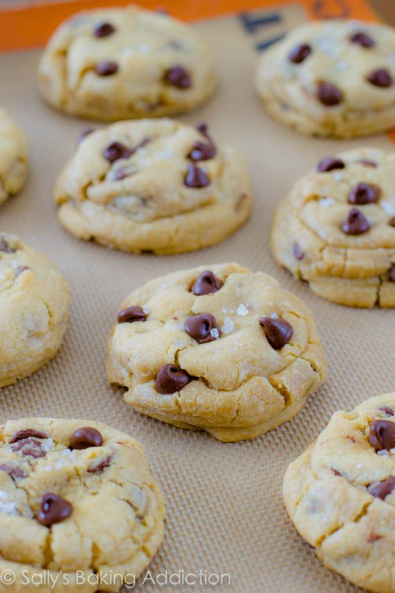 Salted Caramel Chocolate Chip Cookies. The thickest, softest, cookie-doughiest, chewiest, and carameliest.