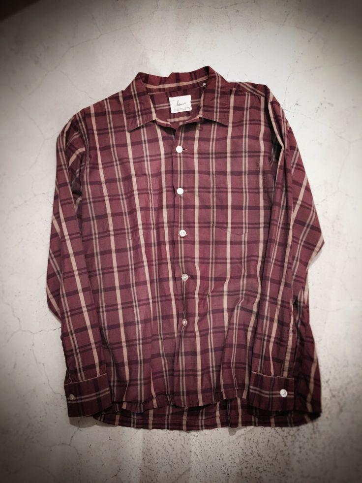 Vintage Shirts  60 open collar shrts  男らしさあるブラウンカラー   60s McGREGOR Shirts  デザイン性の高いチェックパターン   60s TOWNCRAFT Shirts   渋さあるカスリの生地   ワンポイント  ご紹介したシャツは全てオンラインストアからもお買い求めいただけます    <