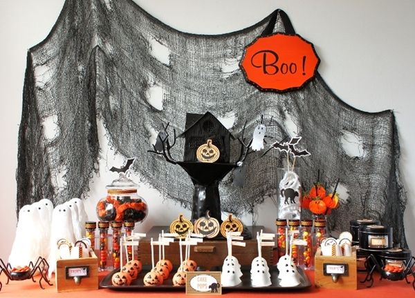 14 best Halloween images on Pinterest Halloween decorating ideas - kids halloween party decoration ideas