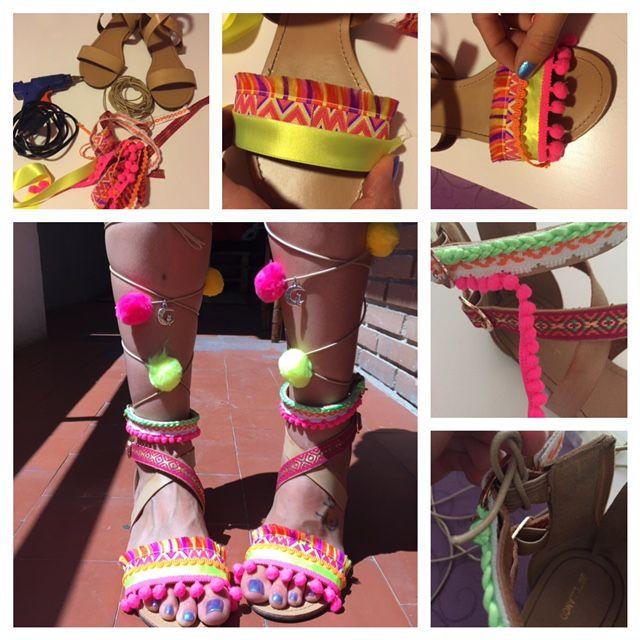 nataly´s handicrafts: Sandalias BOHO DIY
