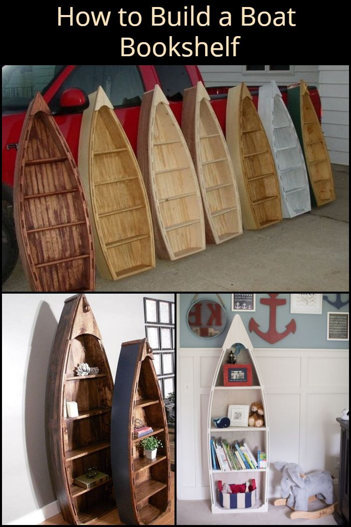 Bring The Beach Into Your Home With This Diy Boat Bookshelf