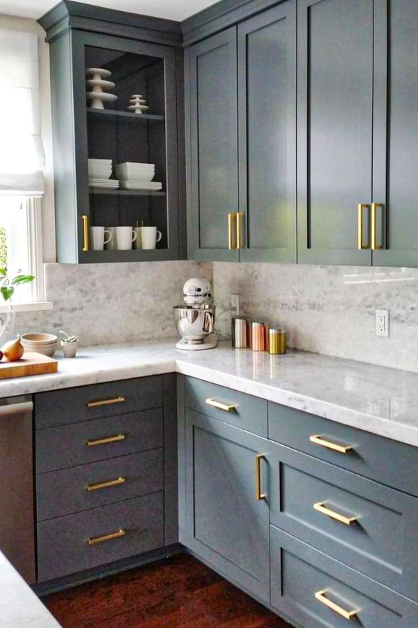 Lovely Grey Kitchen Cabinets Design Ideas For Cool Homes Page 47 Of 50 Evelyn S World My Dreams My Colors And My Life Kitchen Design Kitchen Renovation Kitchen Remodel
