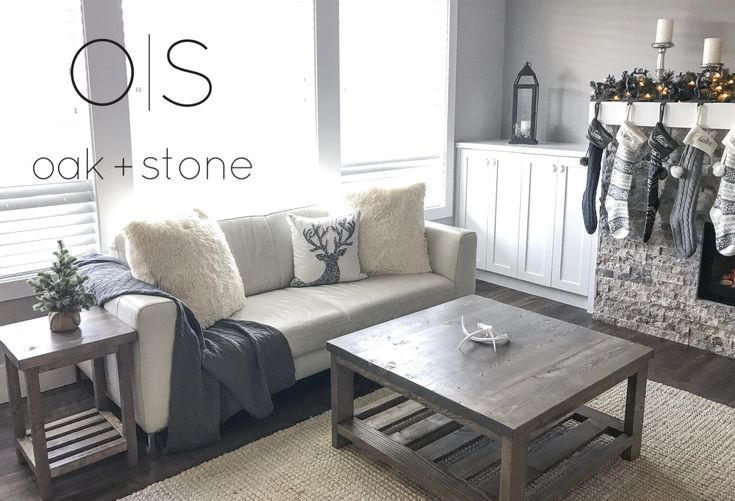 Oak + Stone Artisan Interiors Simple Coffee & Side Table  #diyfurniture #diycoffeetable #livingroom #winterdecor #cozylivingroom