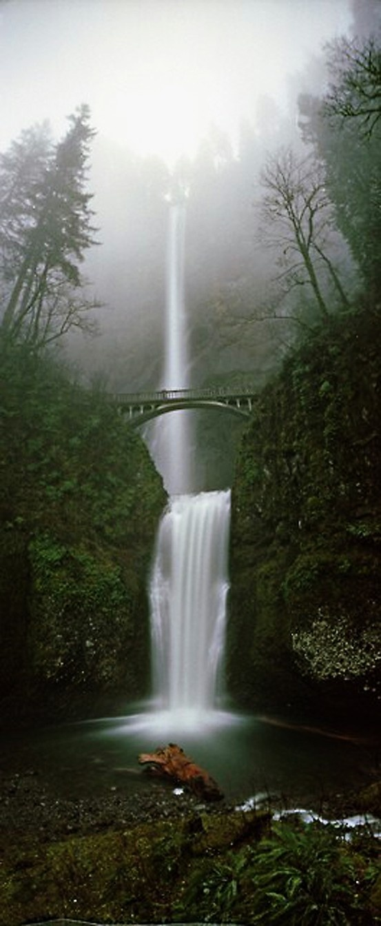 Multanomah Falls, Oregon- this was on the drive to and from Portland when we lived in Oregon, and we used to stop there frequently.  The entire Columbia River Gorge is breathtaking.