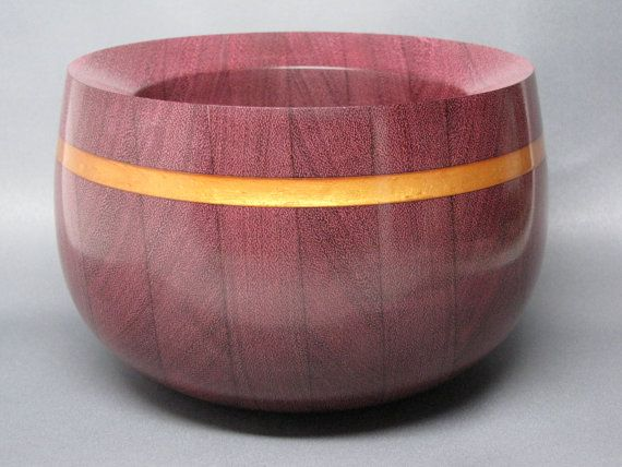 Unique Wooden Bowl Handcrafted from Purple Heart by colemancrafts