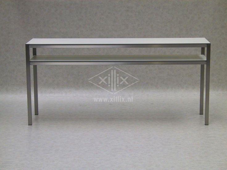 Extra hoge en smalle keukentafel met legblad op maat gemaakte tafels pinterest met and design - Keukentafel corian ...