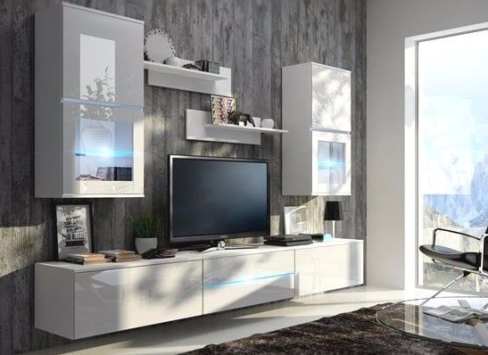 Living Room Furniture Set Wall Section Tv Unit Cabinet FRANK in Home, Furniture & DIY, Furniture, TV & Entertainment Stands | eBay!