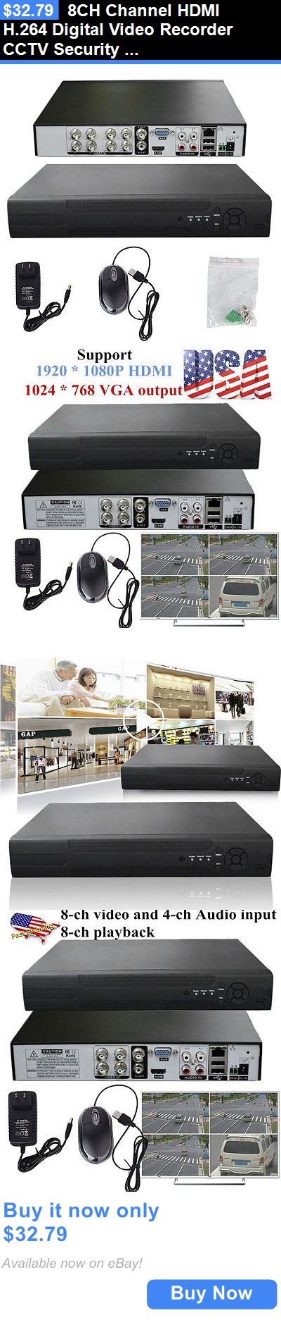 Digital Video Recorders Cards: 8Ch Channel Hdmi H.264 Digital Video Recorder Cctv Security System Us Stock Uy BUY IT NOW ONLY: $32.79