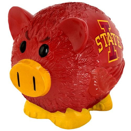 Iowa State Cyclones NCAA Team Thematic Piggy Bank (Large)