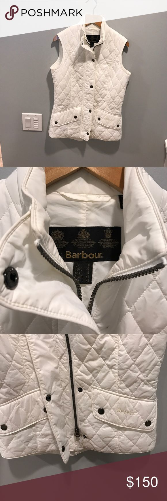 Barbour vest size 4! White never worn! New never worn! Barbour Jackets & Coats Vests