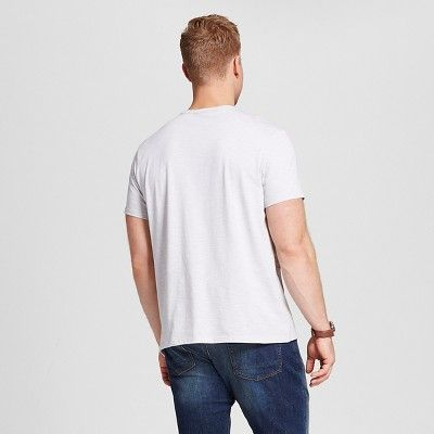 Men's Big & Tall V-Neck Jersey T-Shirt - Merona White 5XB Tall, Size: 5X Big Tall
