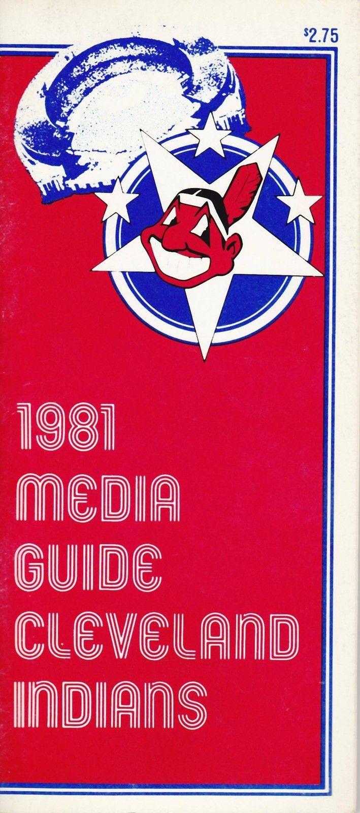 1981 CLEVELAND INDIANS MAJOR LEAGUE BASEBALL MEDIA GUIDE | eBay