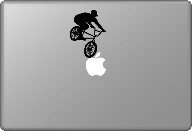 Biker 4 | MacBook sticker | #pasteit #sticker #stickers #macbook #apple #blackandwhite #art #drawing #custom #customize #diy #decoration #illustration #design #sport #sports #extremesport #extremesports #freestyle #freestyler #bike #biker