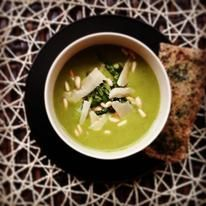 Yummy super green asparagus soup!