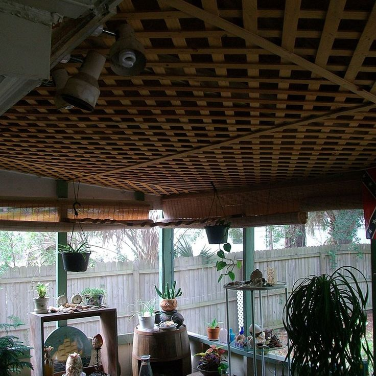 A Touched Up Porch Ceiling Porches Lattices And Ceilings