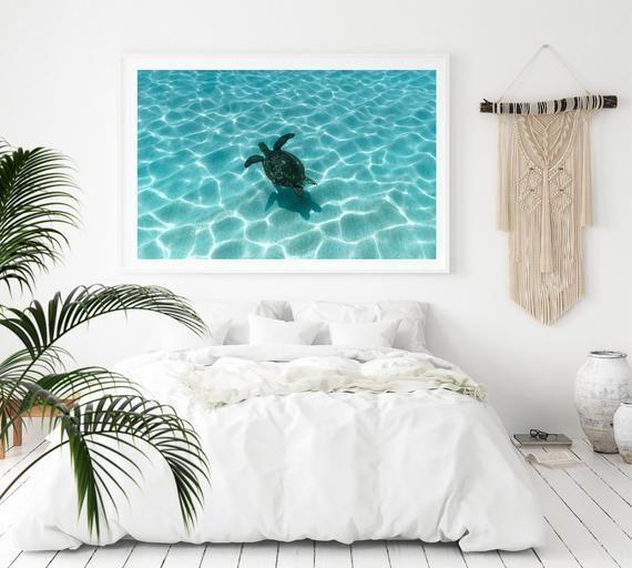 Sea Turtle Print 8x10 Print With Mattig 11x14 Hawaii Photography
