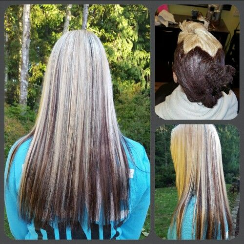 Reverse Ombre using Kenra hair color- 6rb and 10n