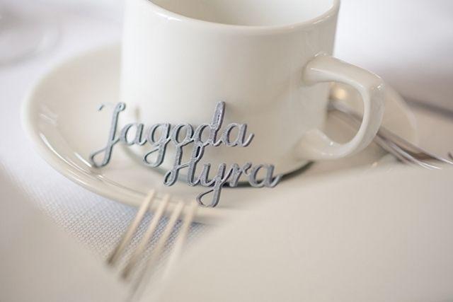 Silver place card | Serbrna winietka na wesele