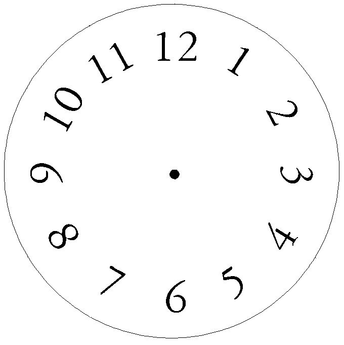 Clock face template with numbers or blank clock face template
