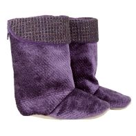 Purple with Tweed Trim boot