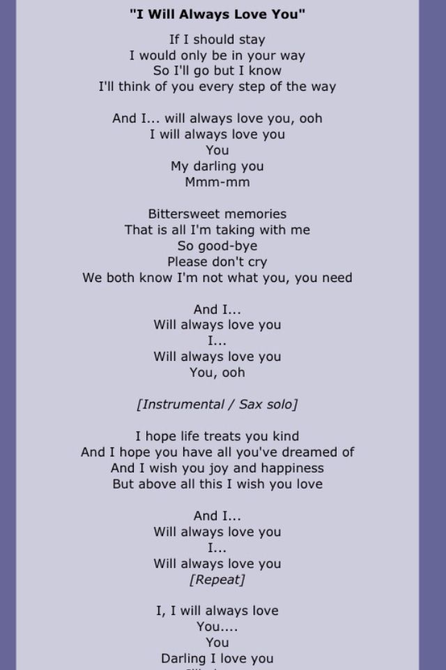 Whitney houston music lyrics