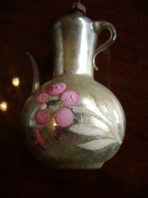 Vintage Christmas Ornaments | : Antique Mercury Glass Teapot Christmas Ornament , Bulb - Christmas ...