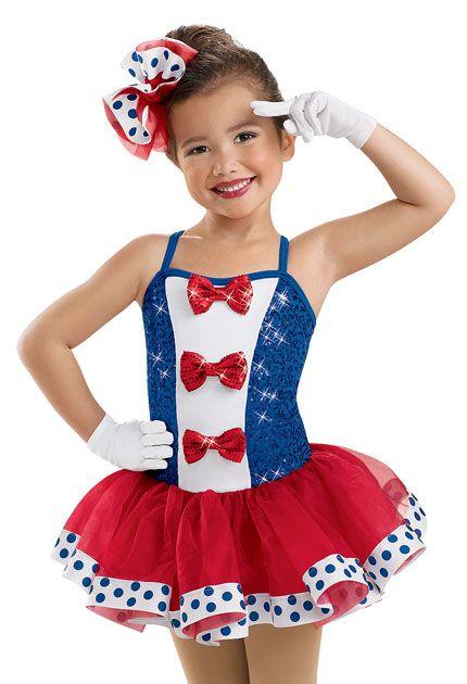 Girls' Patriotic Tutu Dress; Weissman Costumes recital (Yankee doodle dandy)