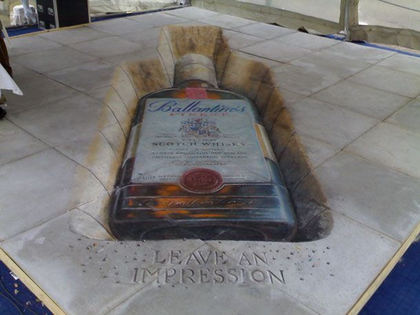 Clever! Ballantine's by Julian Beever