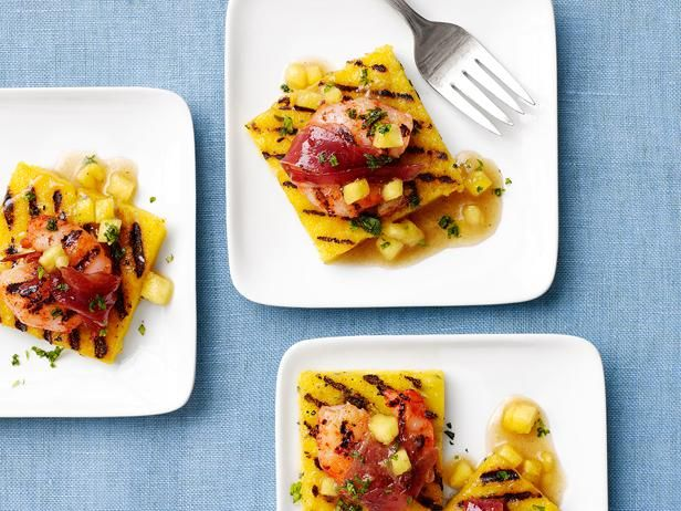 Pineapple Polenta Squares with Shrimp from Food Network MagazineFood Network, Pineapple Polenta, Pineapple Recipe, Polenta Squares, Grilled Shrimp On Polenta, Pineapple Squares, Favorite Recipe, Shrimp Recipes, Grilled Pineapple