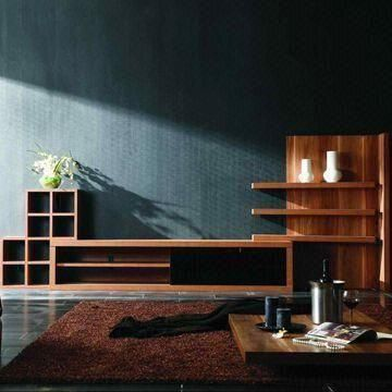 TV Wall Unit with Fashionable Style, Available in Green, Customized Sizes are Accepted