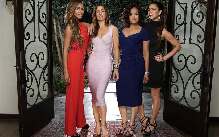 Download imagens Devious Maids, temporada 5, 2017, Dania Ramirez, Judy Reyes, Marisol Suarez, Rosie Falta, Zoila Diaz, Roselyn Sanchez, Carmen Luna, Ana Ortiz