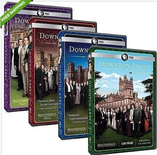 Downton Abbey DVD Complete Seasons 1, 2, 3, 4 First Second Third Fourth 1-4