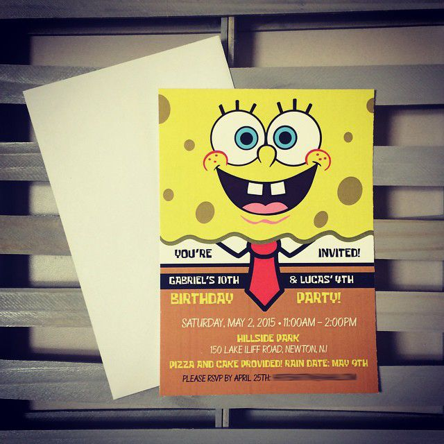 Spongebob Invitation | Spongebob Birthday