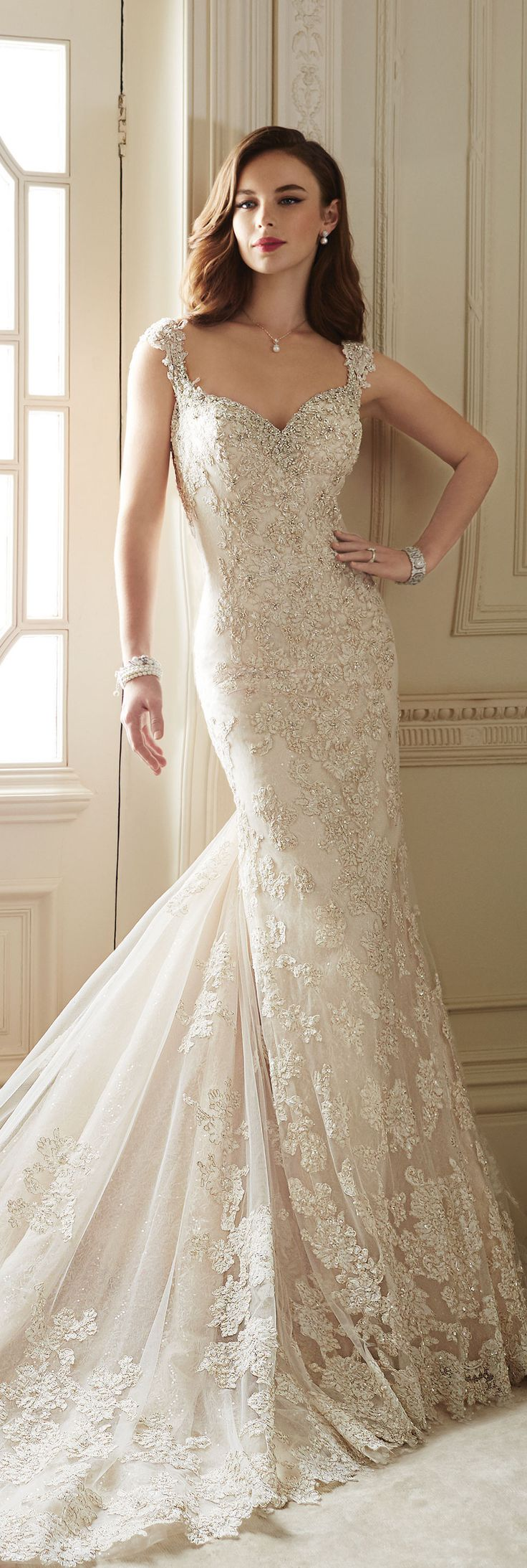 No lace wedding dress october 2018  best laaroussa images on Pinterest  Brides Groom attire and