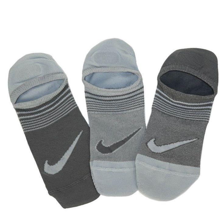 Nike 3 Pack Women's Sneaker Liner Socks (White/Wolf Grey)