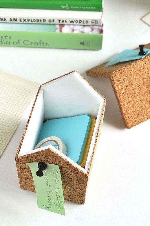 DIY // Cork Storage Boxes