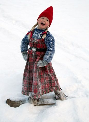 a little girl from Hallingdal, Norway