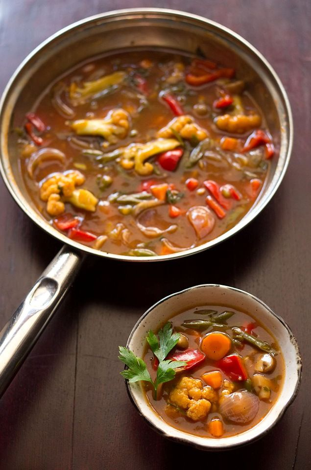 sweet and sour vegetables is a popular indo chinese recipe. the sauce in which vegetables are simmered is sweet and sour and hence this title. really easy