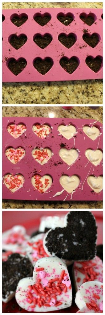 White Chocolate Oreo Hearts - The perfect and easiest Valentines Day treat