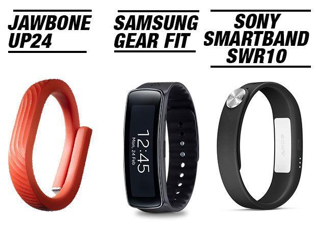 pulseras de actividad Jawbone Up, Samsung Gear fit, Sony Smartband