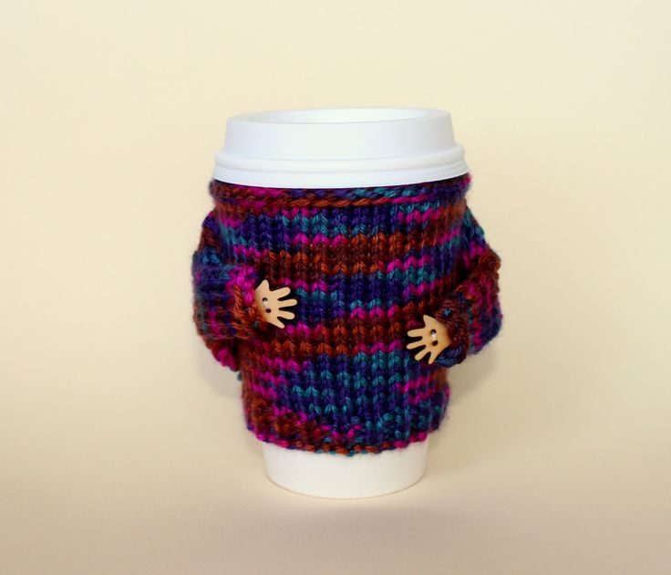 Whimsical Coffee Sleeve Coffee Cozy Travel Mug Knit Cup Holder For Tea  Lover Mug Sweater Coworker Gift Tea 104 Best Cozy Images On Pinterest Cafe.