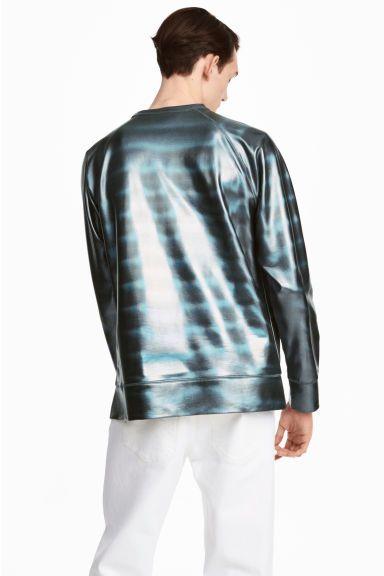 Coated sweatshirt - Black/Metallic - Men | H&M 1
