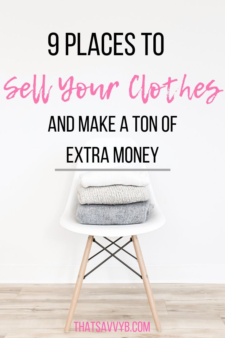 Where to sell clothes if you want to make easy money FAST. Great tips on how to … – Money – Make it, Save it, Budget it