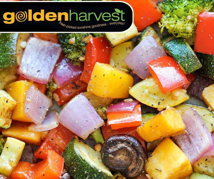 Happy #MeatfreeMonday! Enjoy this delicious perfectly tender roasted vegetable dish which is packed with abundant flavour. We made your life even easier at Golden Harvest with our selection of pre-packed veggies in-store. For the full recipe, click here: http://ablog.link/46r. #GoldenHarvest