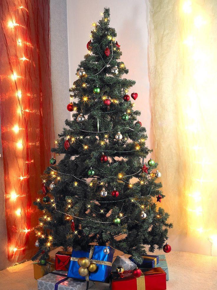 infactory Kunstbaum: Künstlicher Weihnachtsbaum, grün, 180 cm, 465 PVC-Spitzen mit 300 LEDs (Künstlicher Weihnachtsbaum mit integrierter Beleuchtung) http://amzn.to/2kjzlOG