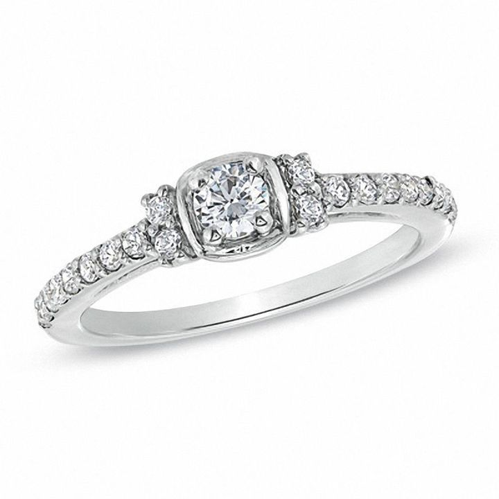 1 3 Ct T W Diamond Promise Ring In Sterling Silver