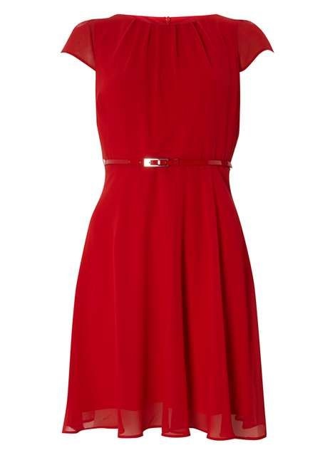 and a little bit longer #little #red #dress - above the knee lenth #chiffon #causal #elegant #short #sleeves #chic #awesome #silhouette #capsule #wardrobe