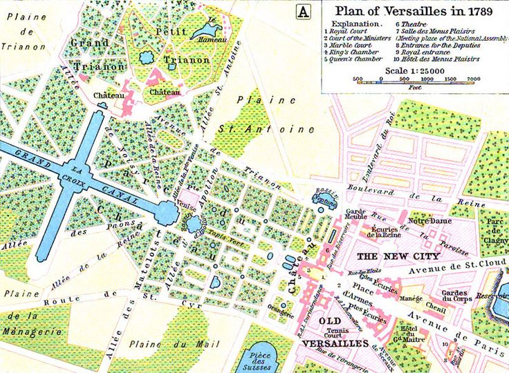 Map of Versailles in 1789 by William R Shepherd (died 1934) - Women's March on Versailles - Wikipedia, the free encyclopedia