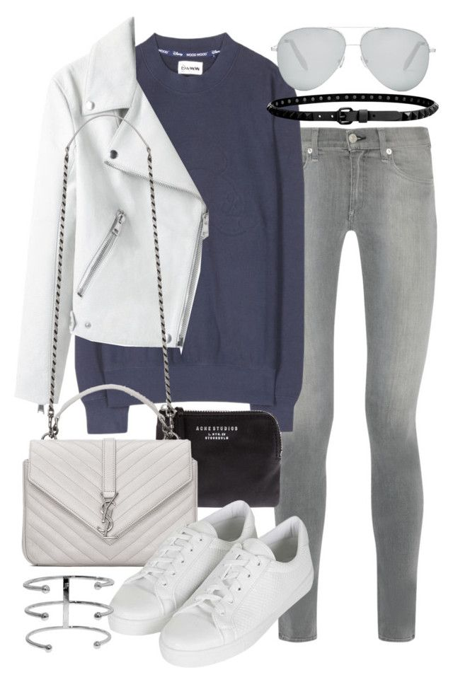 """""""Untitled #19441"""" by florencia95 ❤ liked on Polyvore featuring rag & bone, Wood Wood, Acne Studios, Yves Saint Laurent, Topshop, Victoria Beckham and Linea Pelle"""